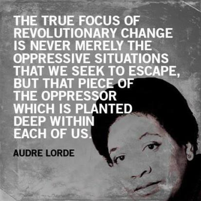 Beautiful inspiration from Audre via internet.